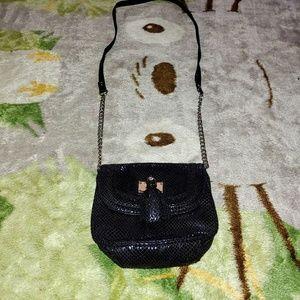 Used Nine West Black Mini Crossbody Purse